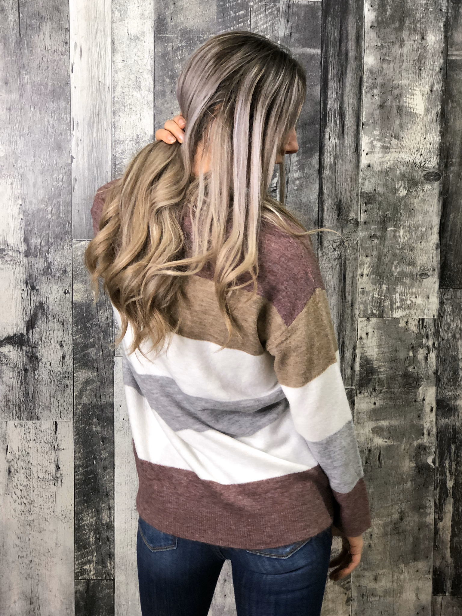 Winter Air Striped Sweater