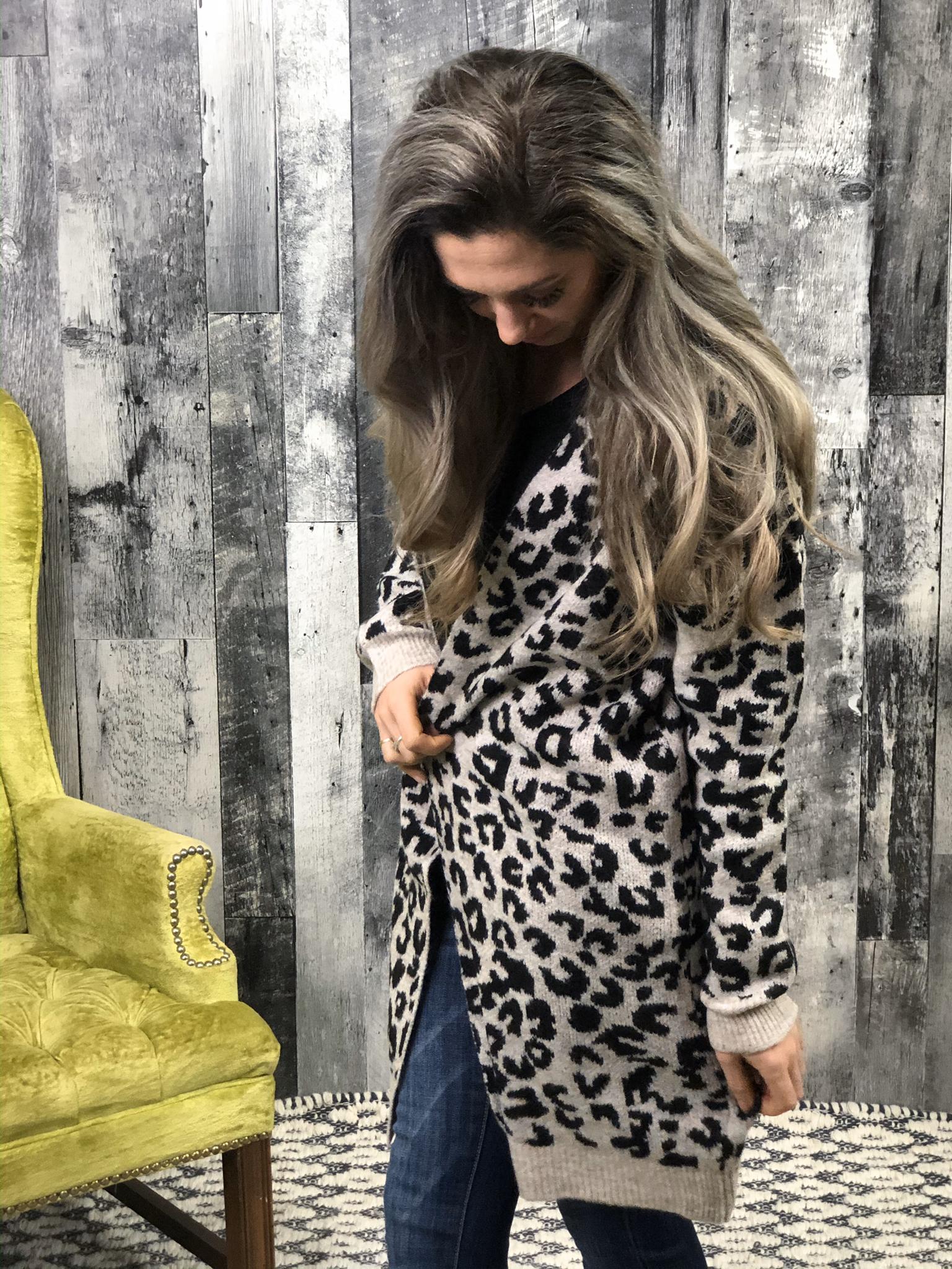 Grey animal cardigan