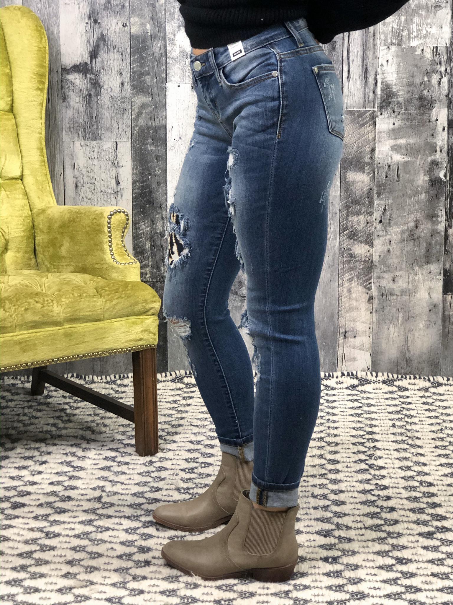 JUDY BLUE Cheetah Skinny Jean