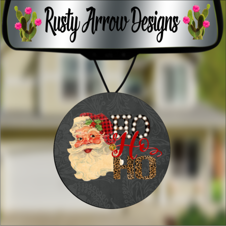 Round Christmas Car Air Fresheners - 2 Styles and Scents F1