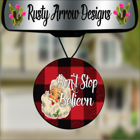 Round Christmas Car Air Fresheners - 2 Styles and Scents