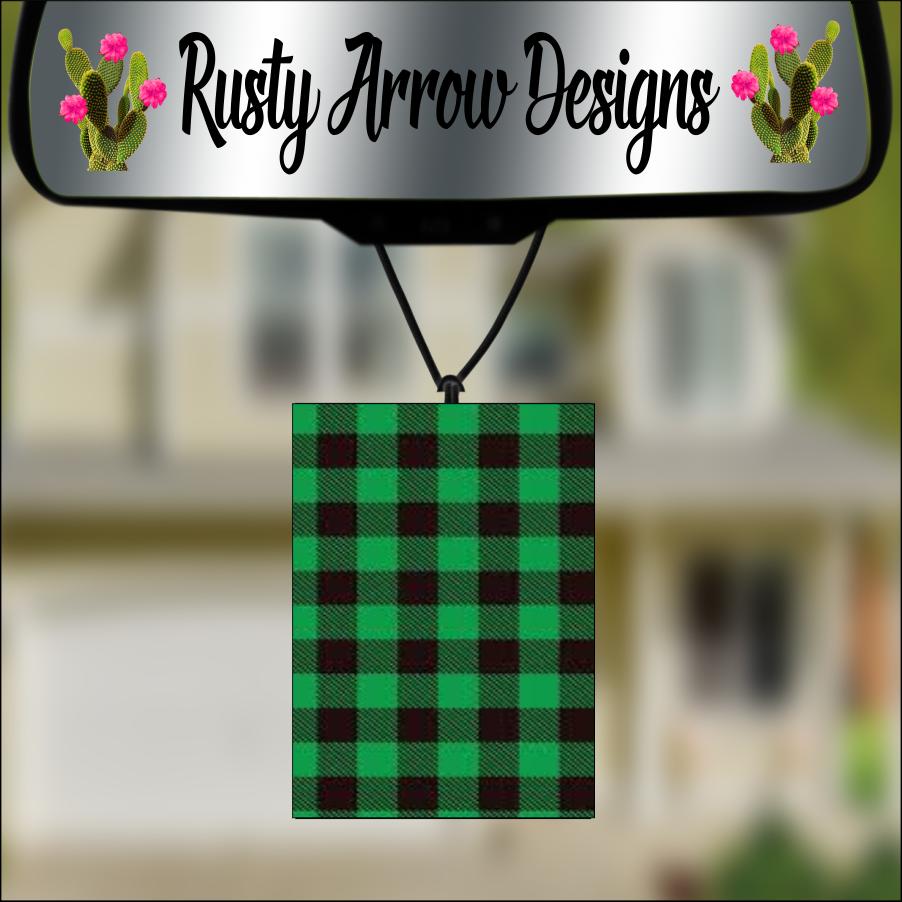 Buffalo Plaid Air Fresheners - 2 options F3