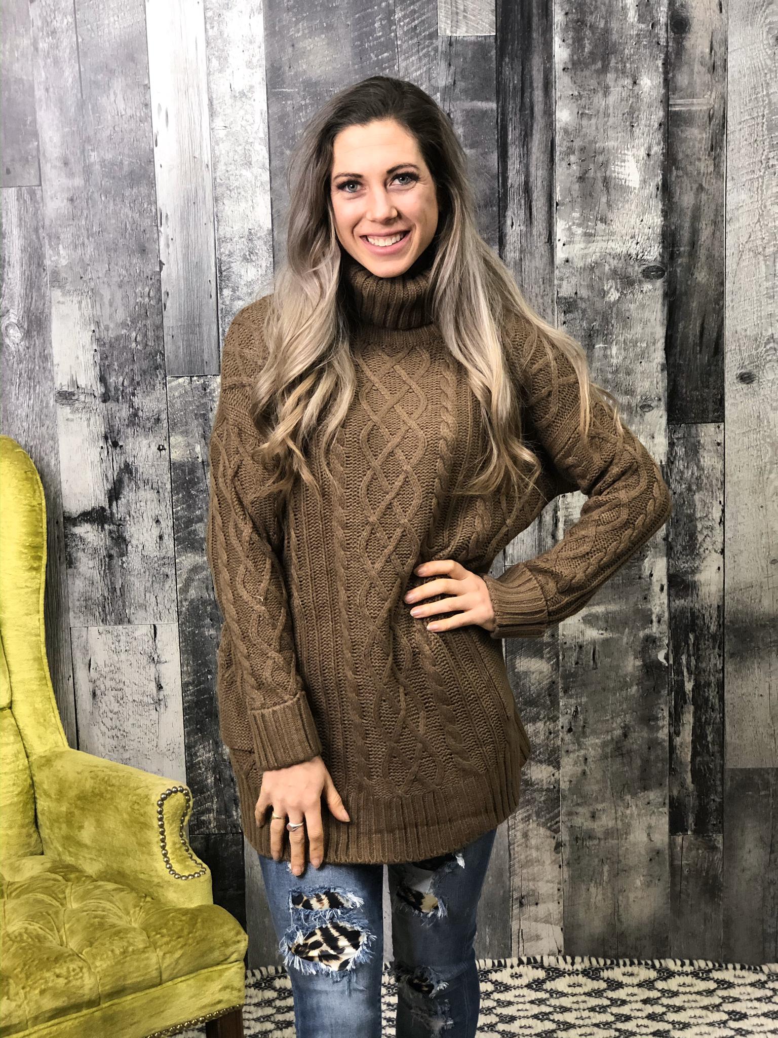 Mocha Knit Sweater 84417