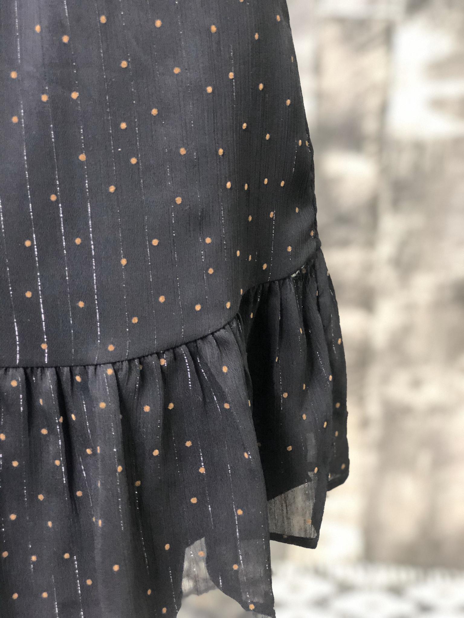 Black Polka Dotted Holiday Dress