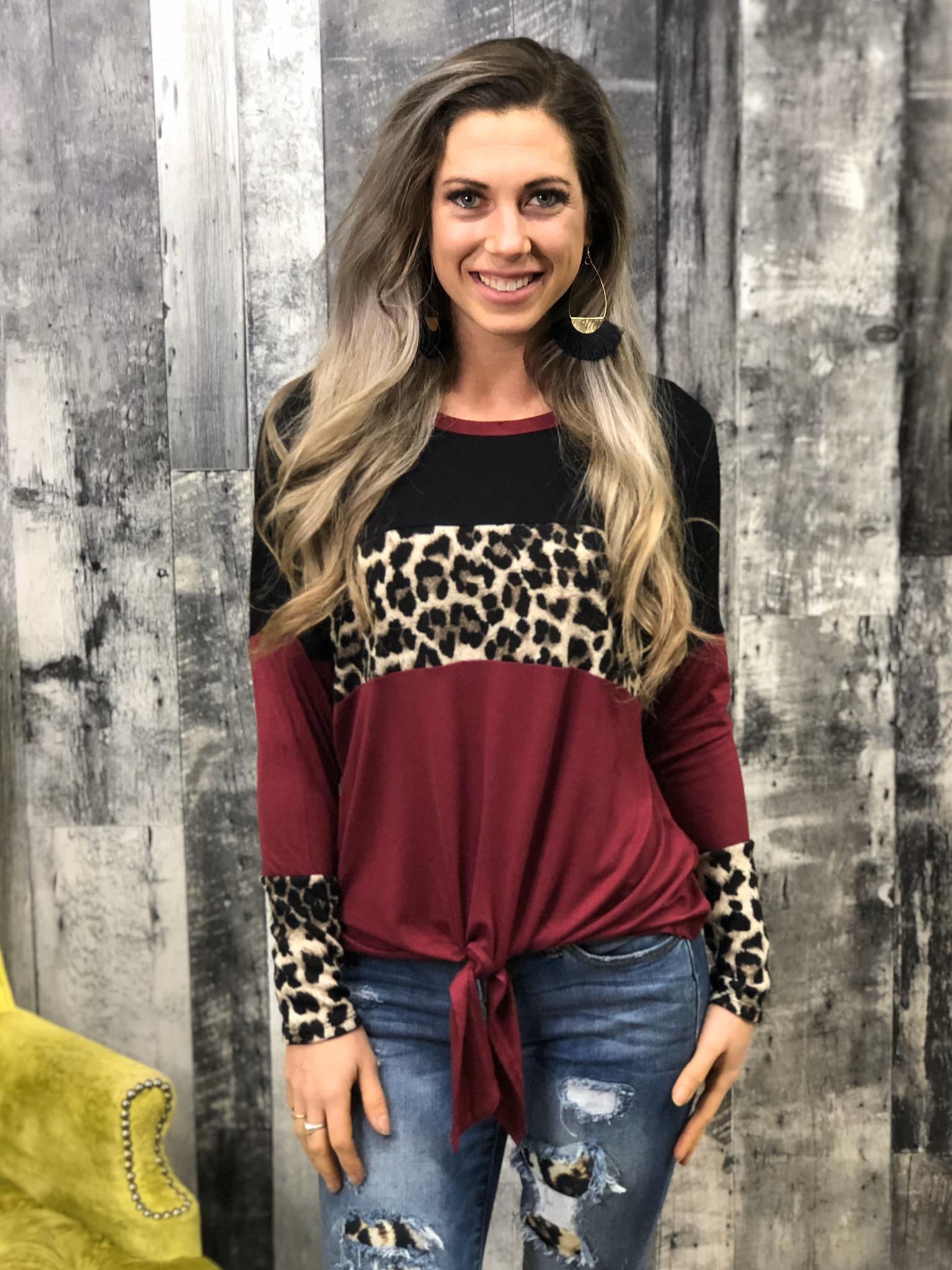 Cheetah Color Block Long Sleeve 84379