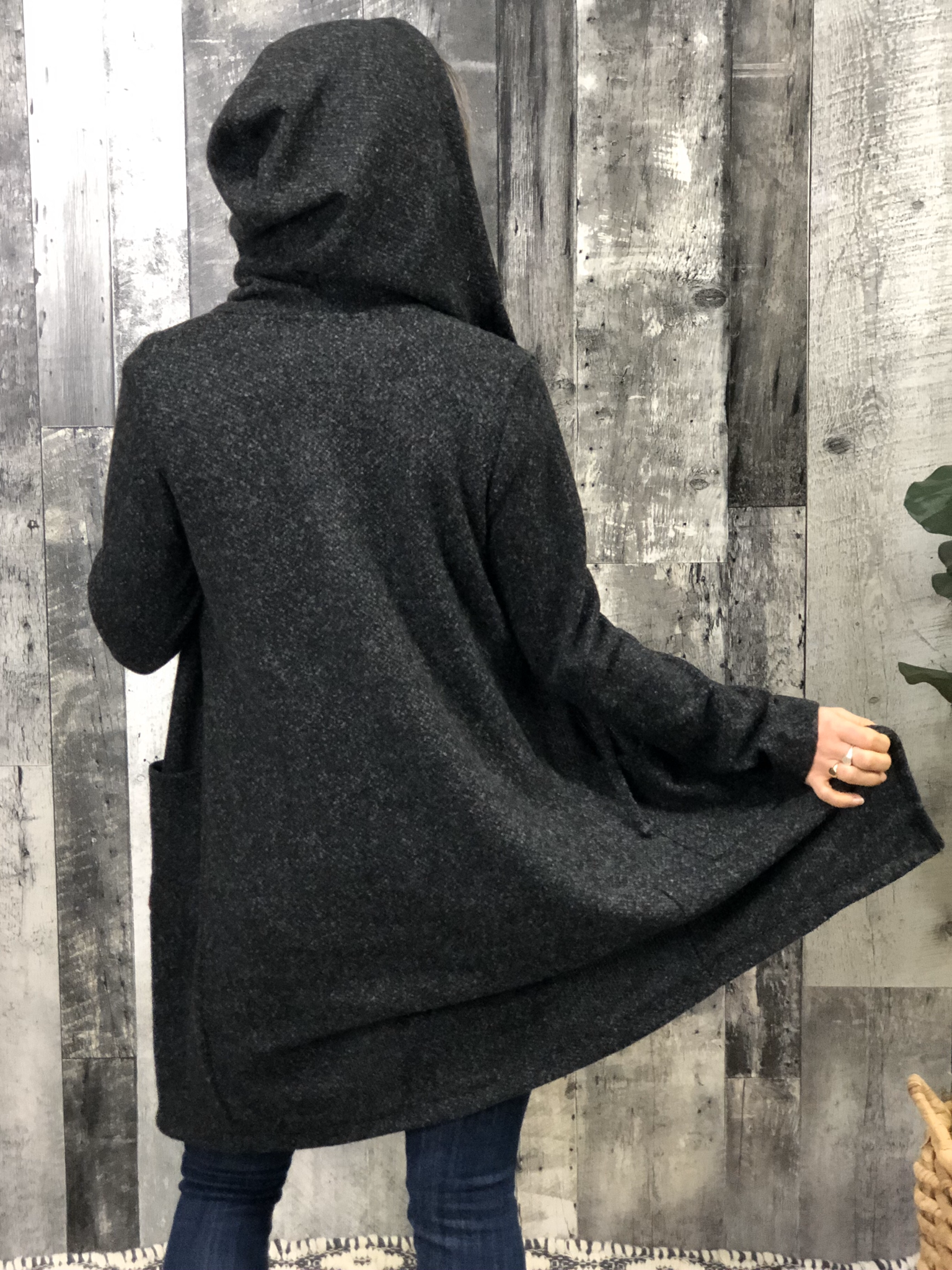 Hooded Heather Cardigan