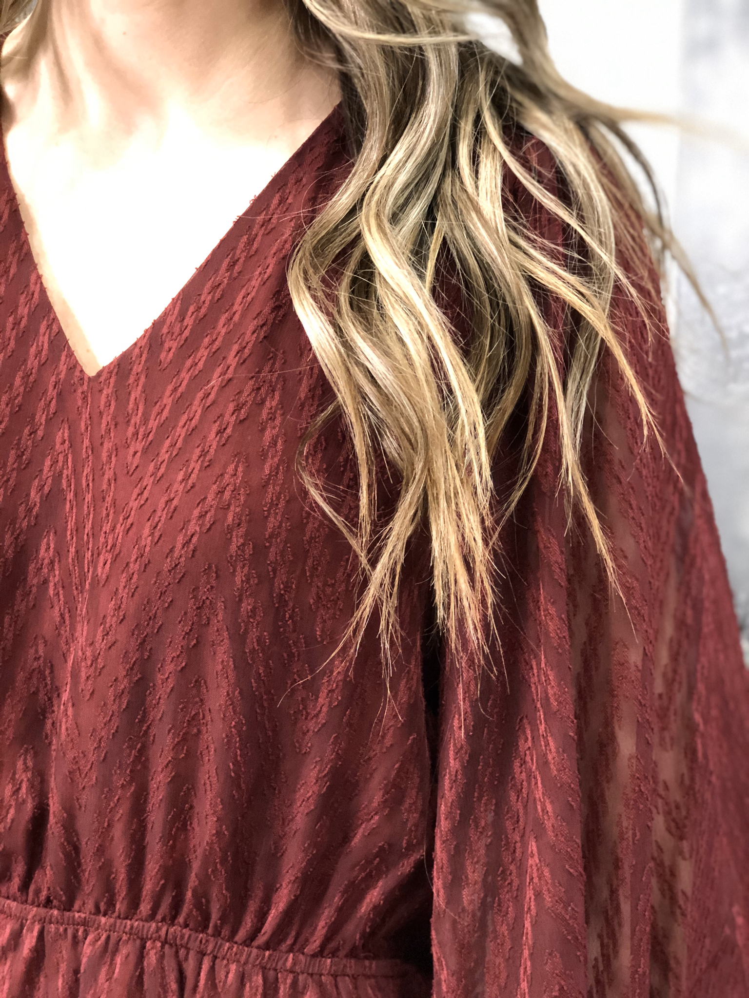 Cranberry Textured Dress