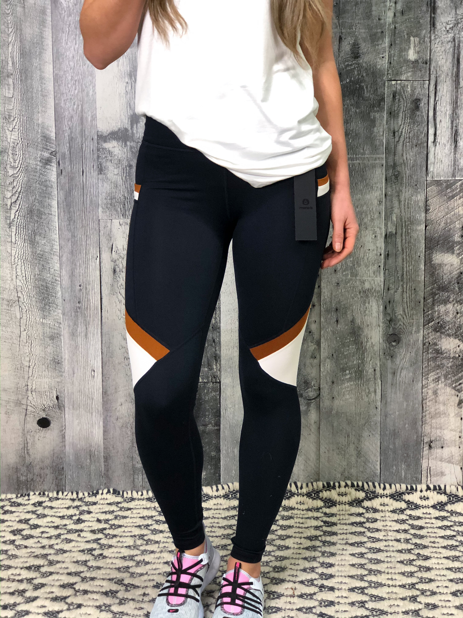 Athletic Legging - Rust/Navy Colorblock 84665