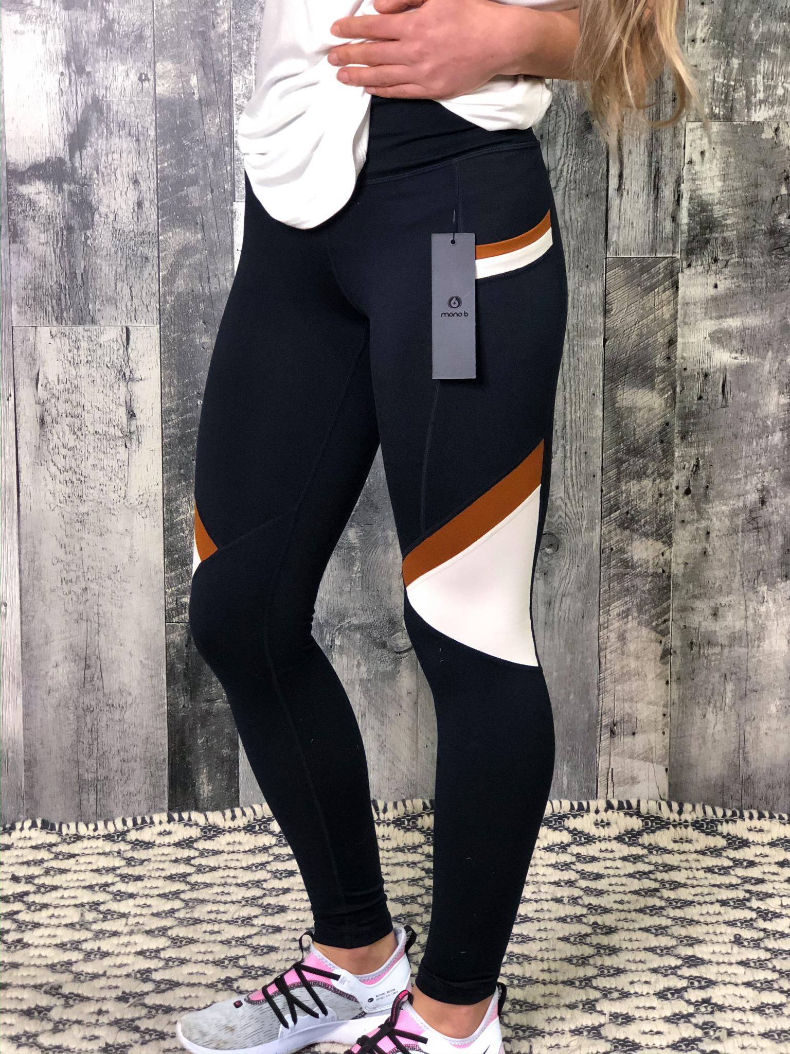 Athletic Legging - Rust/Navy Colorblock