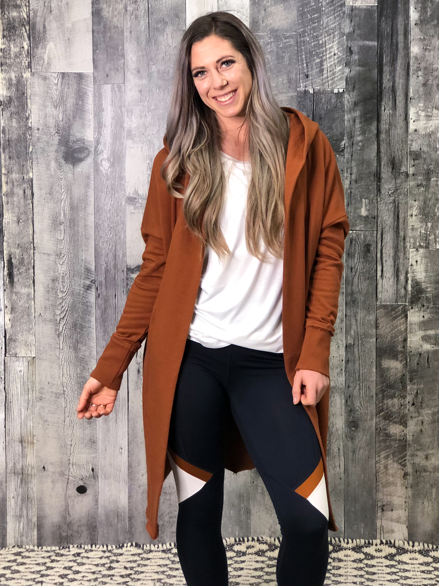 Long Athletic Shrug - Rust 84669