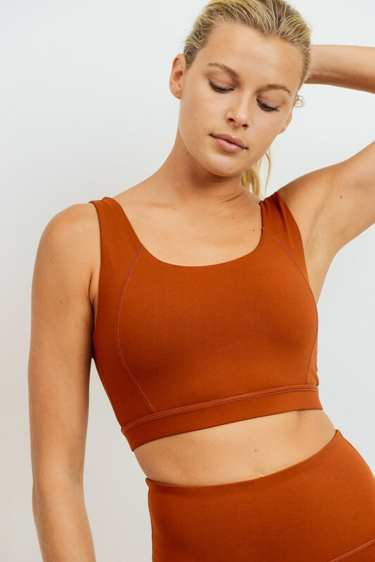 Athletic Bra - Rust 84661