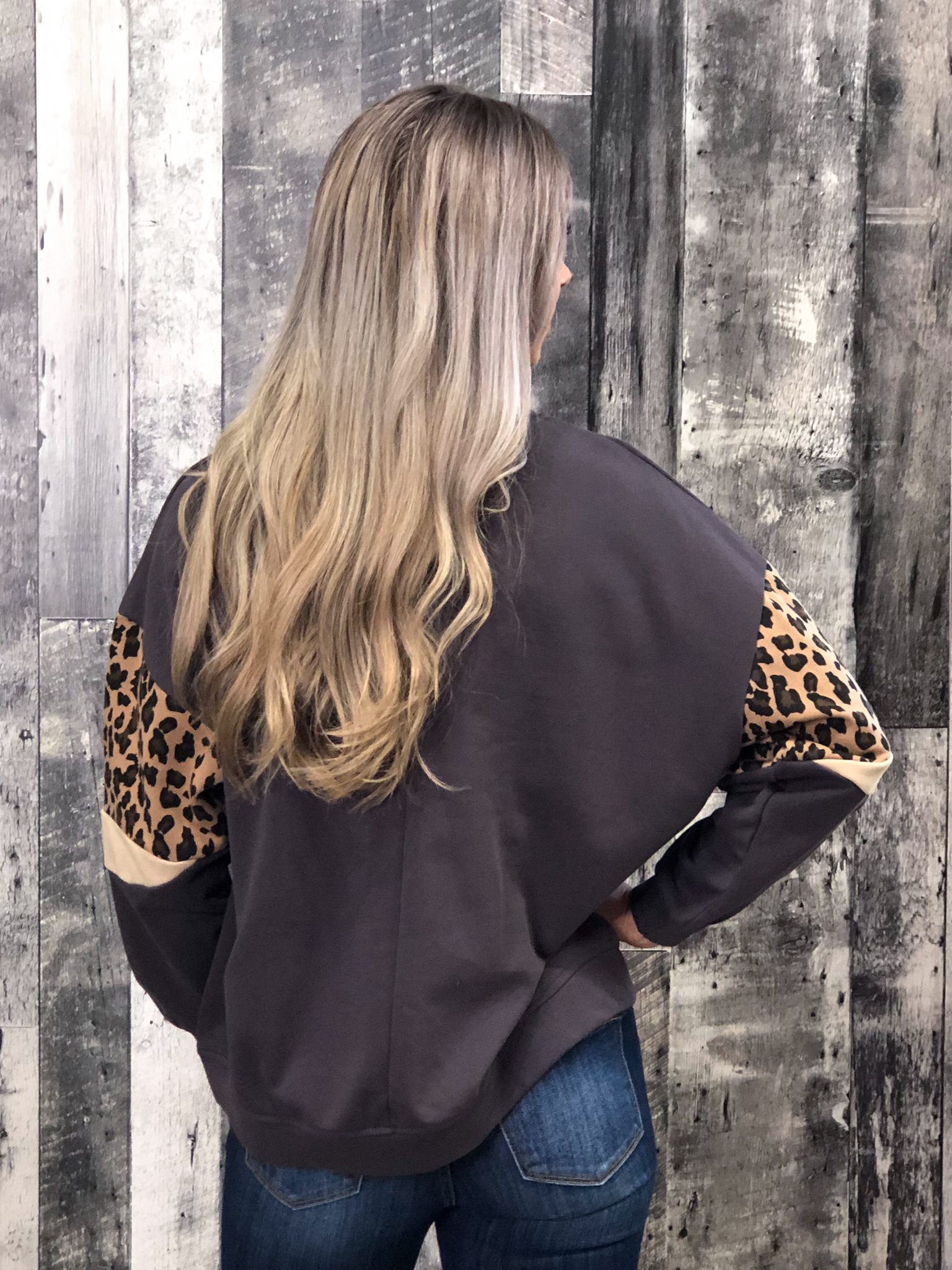 Mauve Cheetah Sweater