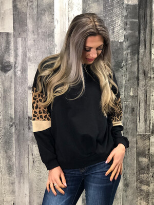 Black Cheetah Sweater