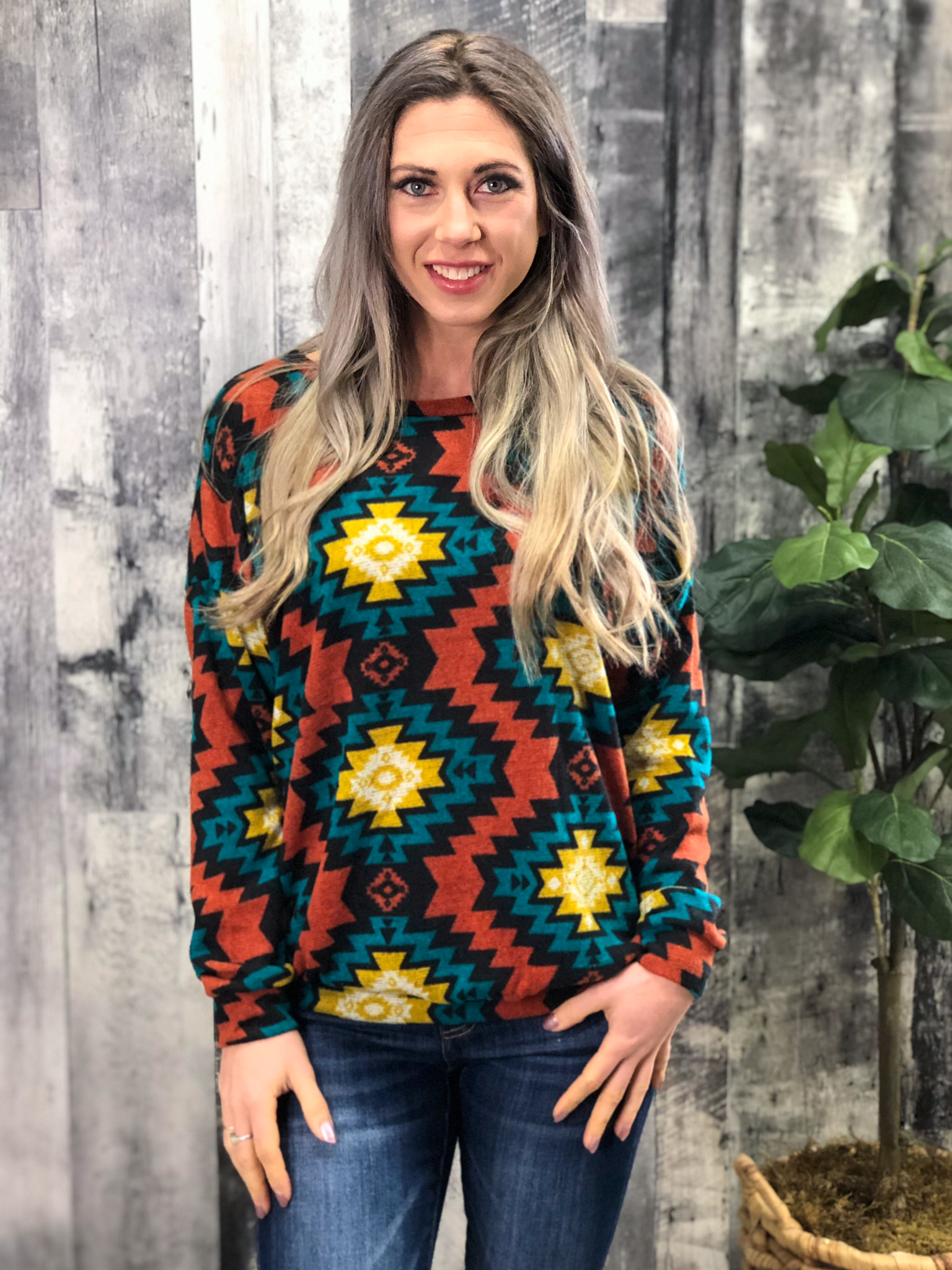 Aztec Sweater 999964
