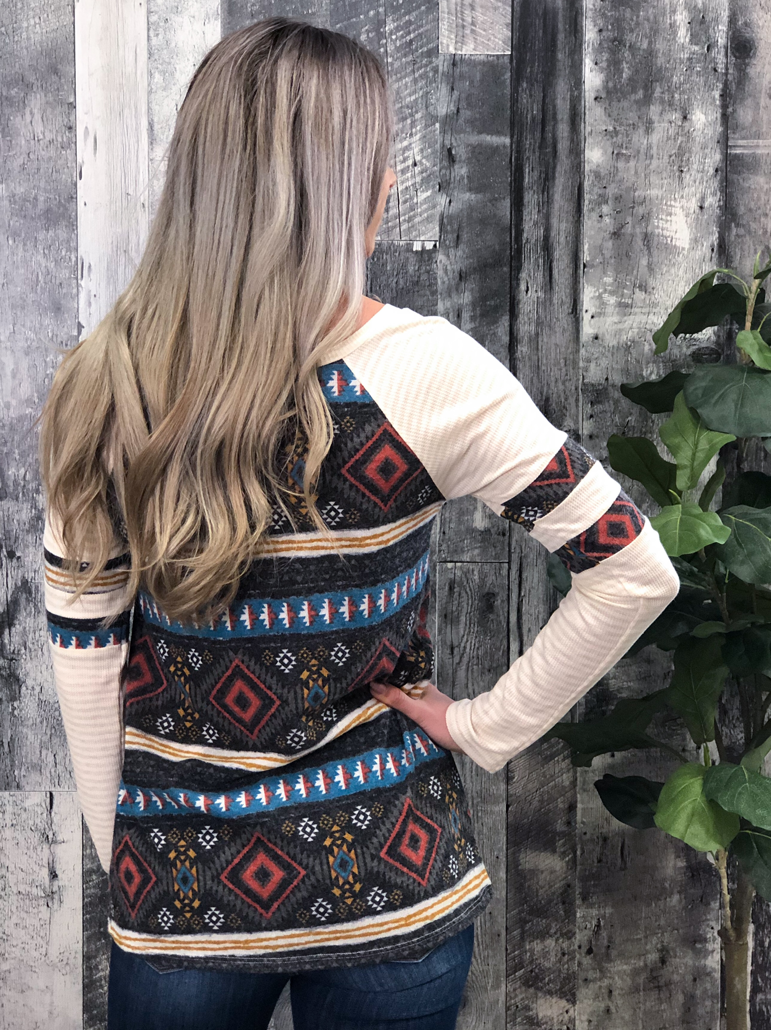 Aztec Print Long Sleeve