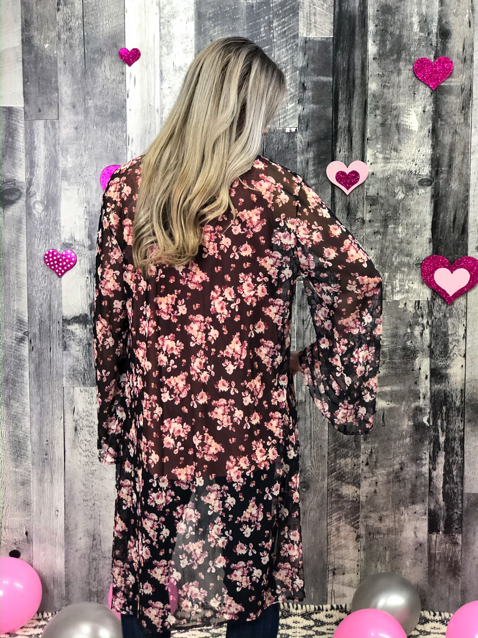 Long Sleeve Floral Kimono