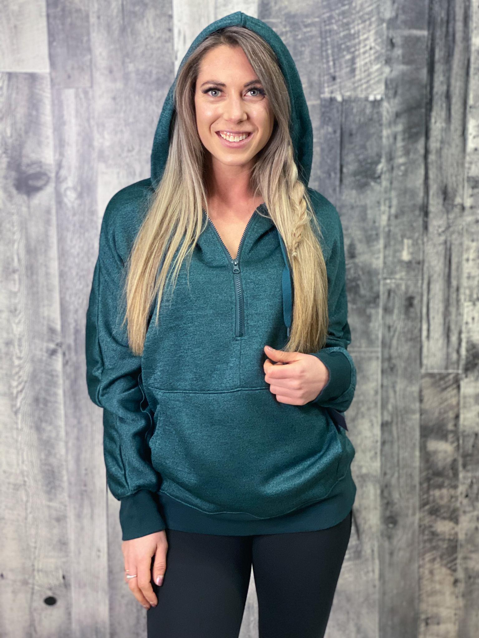 Athleisure Hoodie Pullover - Green