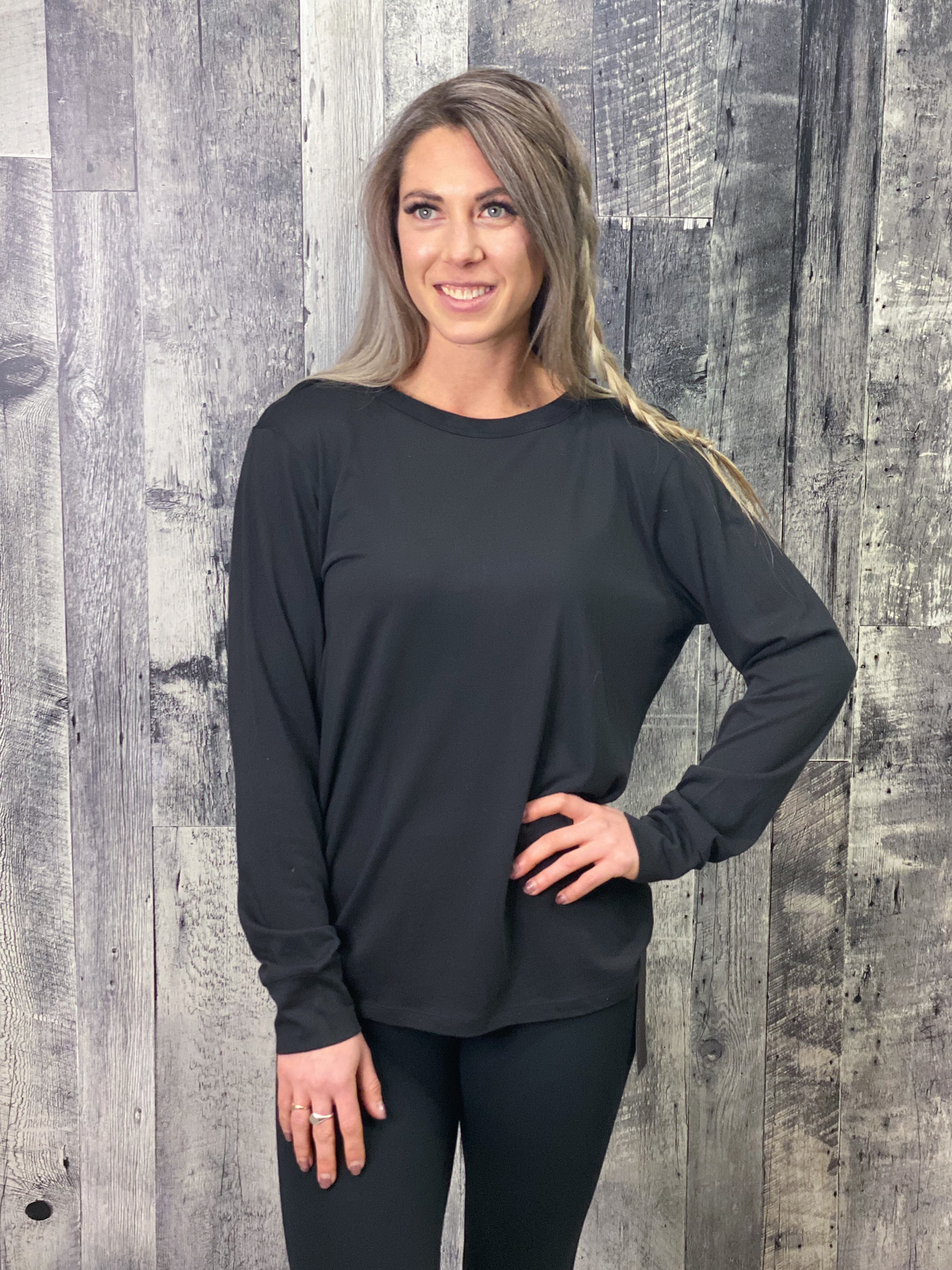 Athleisure Strappy Back Long Sleeve