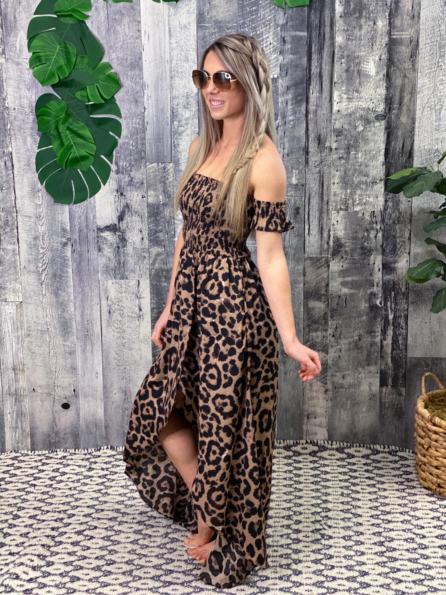 Cheetah High Low Dress