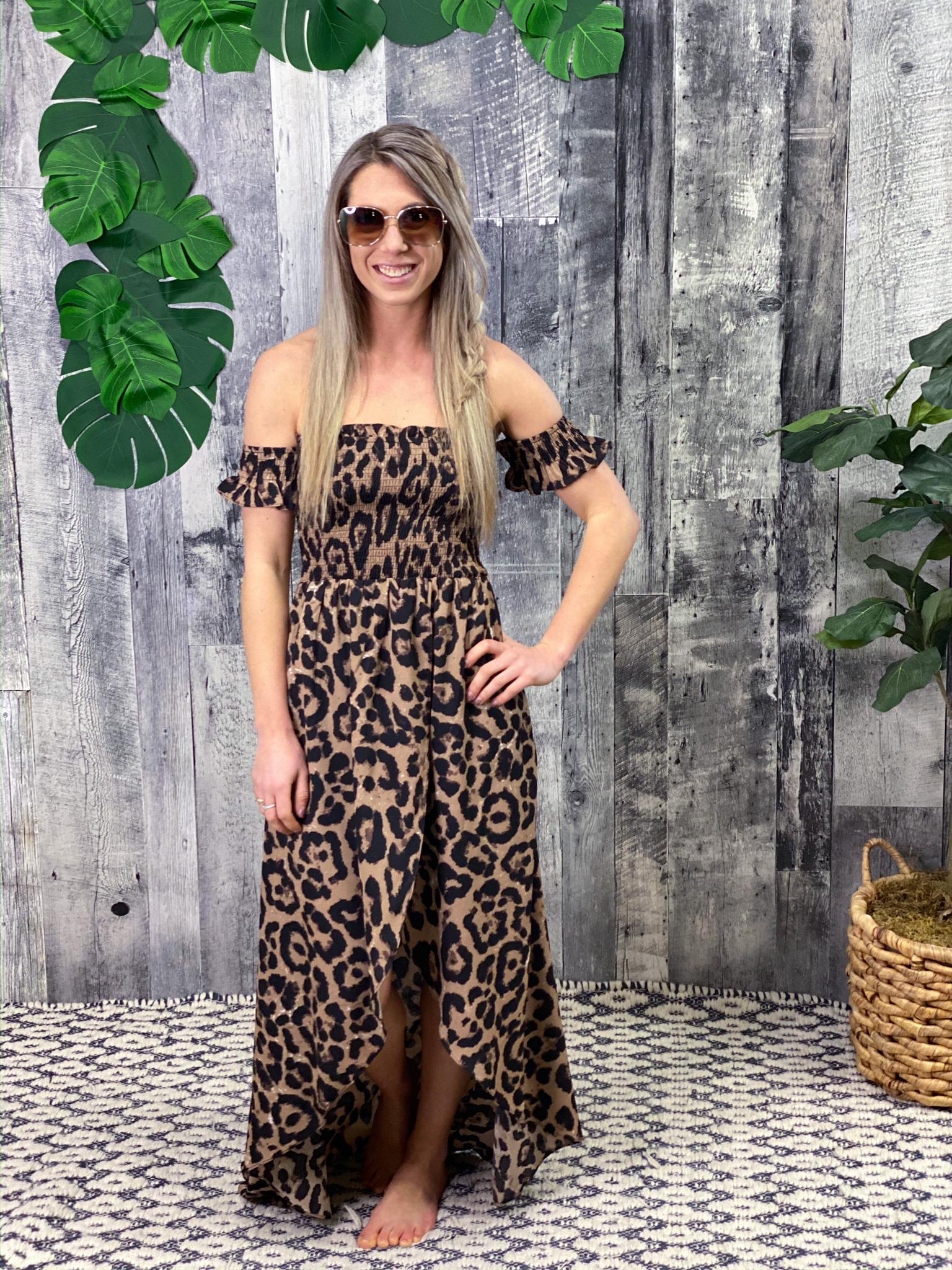 Cheetah High Low Dress 2A48
