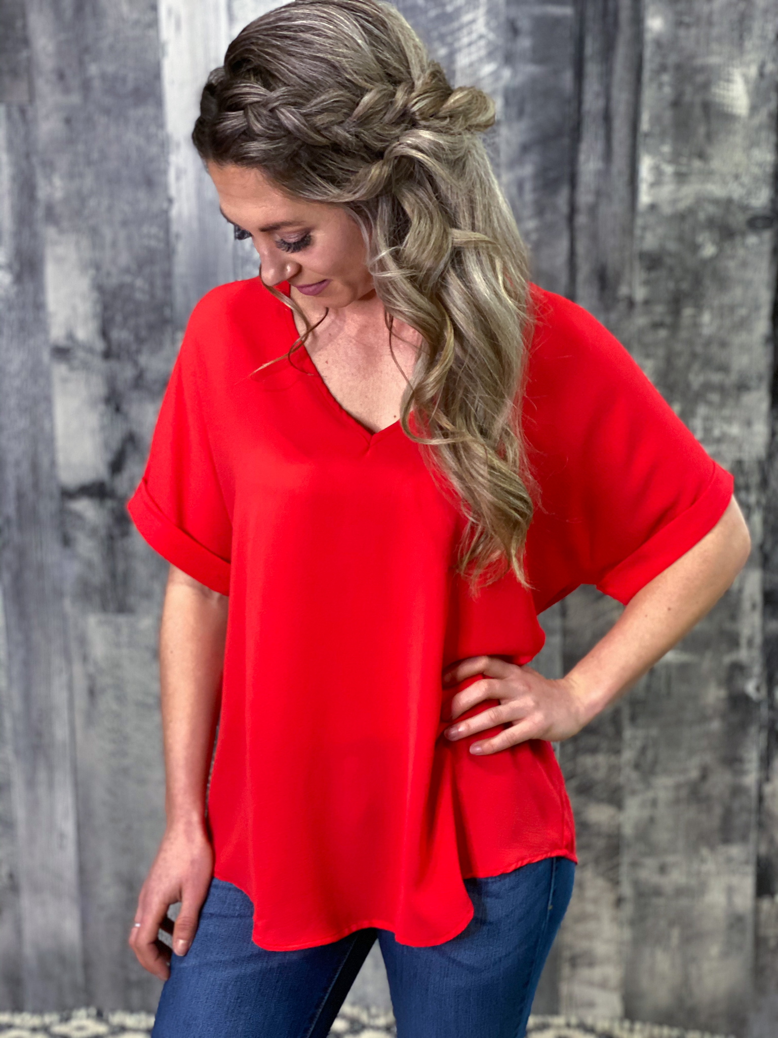 The Dixie Blouse - Red ML27