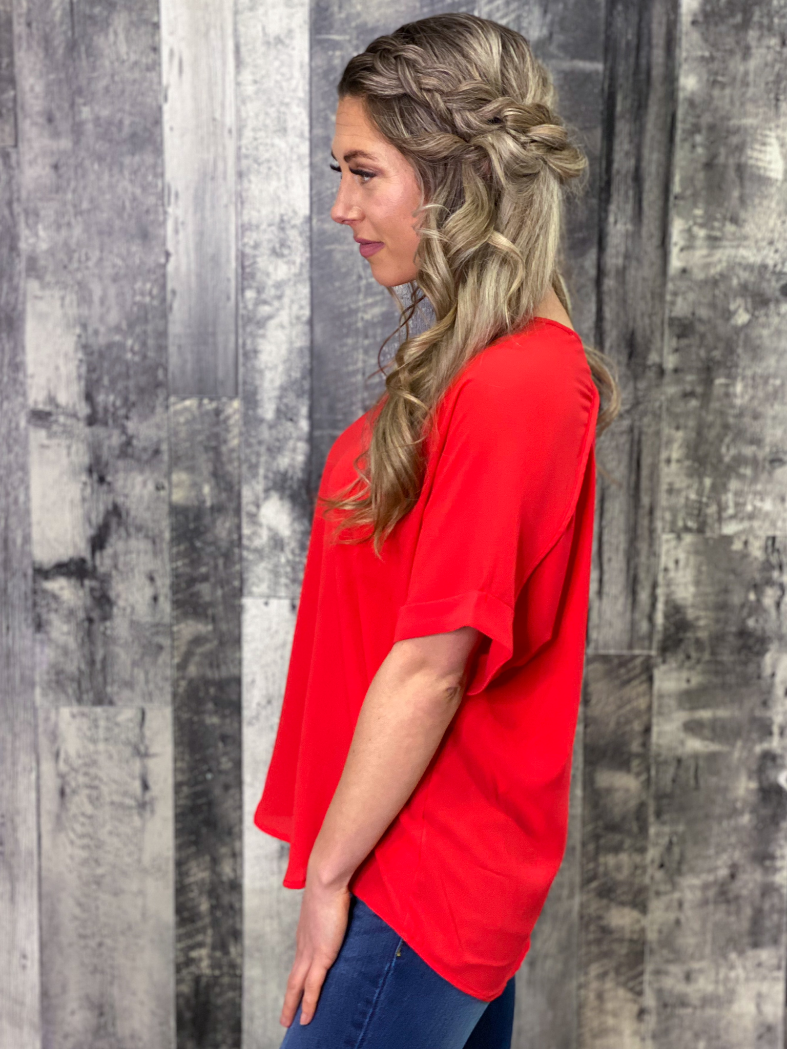 The Dixie Blouse - Red