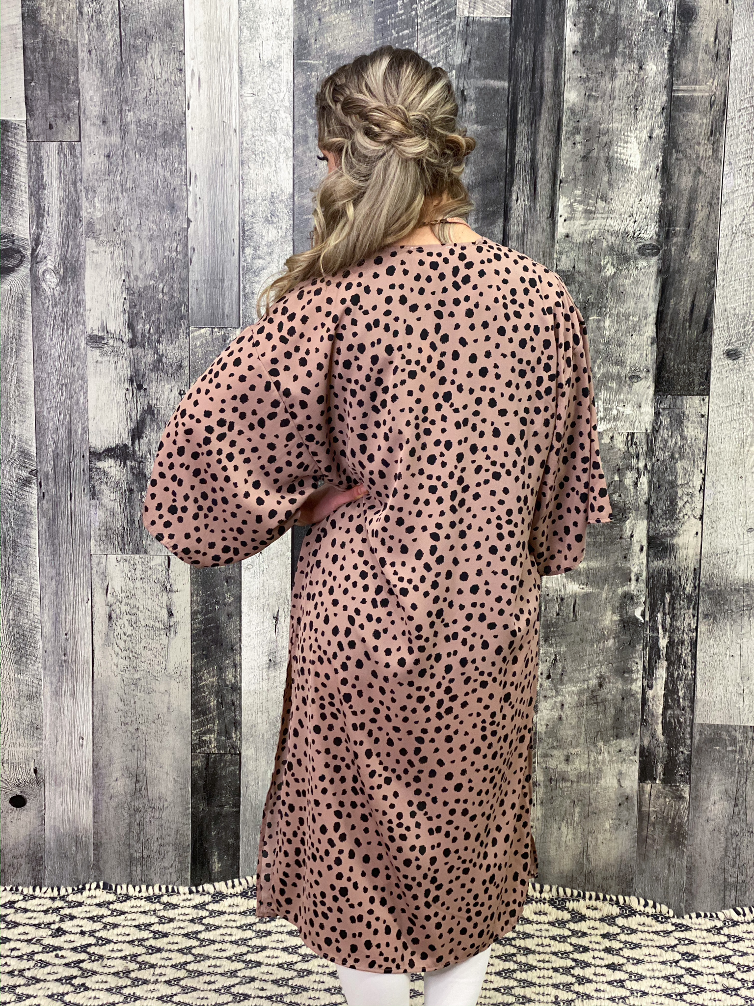 Dusty Rose Dalmation Duster