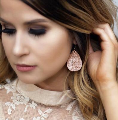Rose Gold Itty Bitty Dangle Earrings