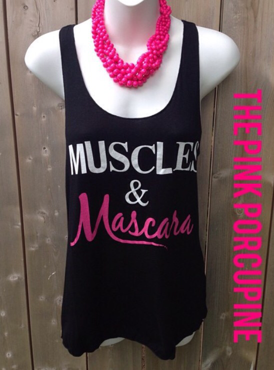 Muscles and Mascara Tank 002532