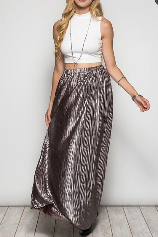 Metallic Goddess Maxi Skirt 00385