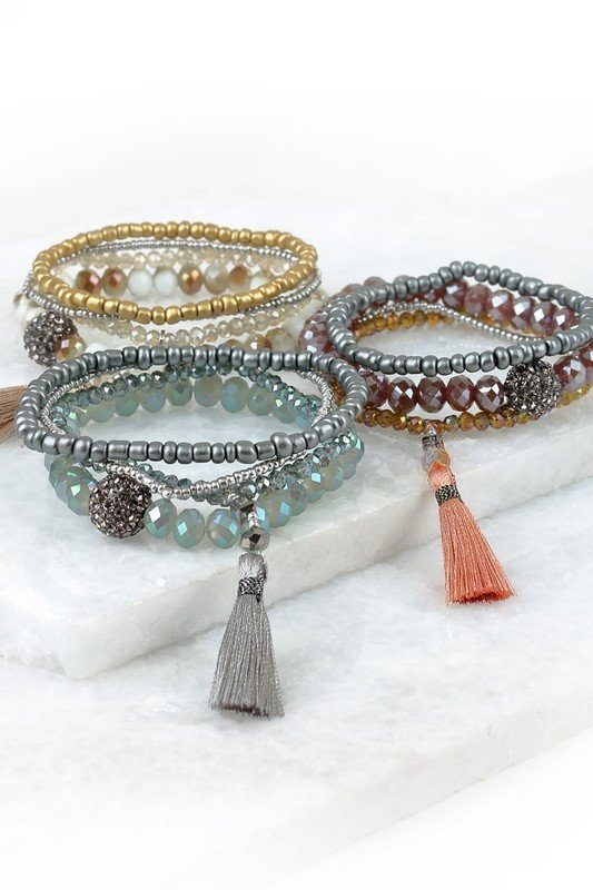 Shimmer Stack Bracelets - 3 Colours 99143