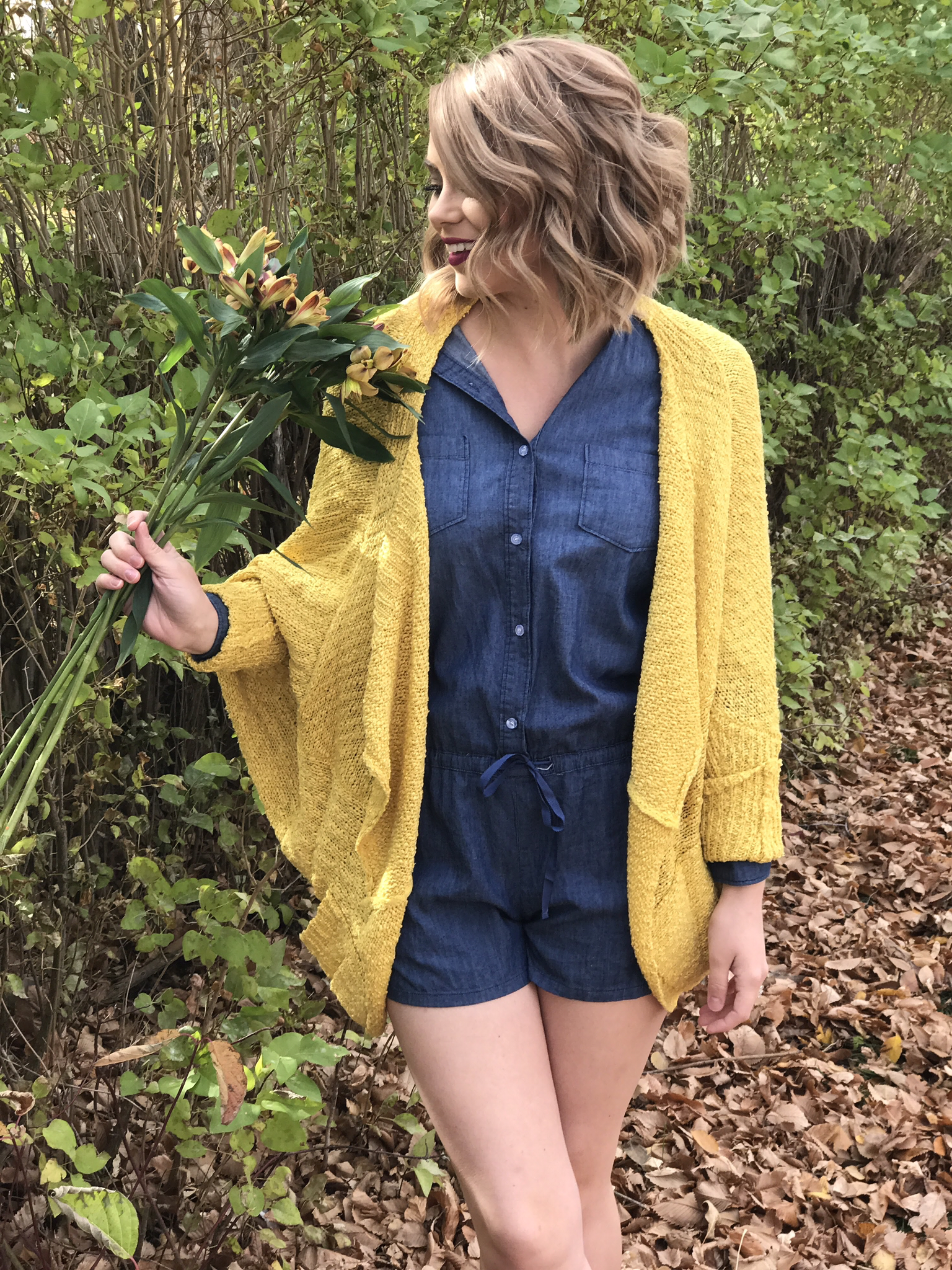 Yellow Sweater Cardigan 99199