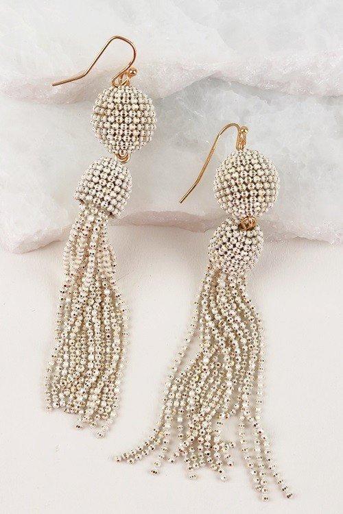 Ball and Tassel Earrings - 3 Colours