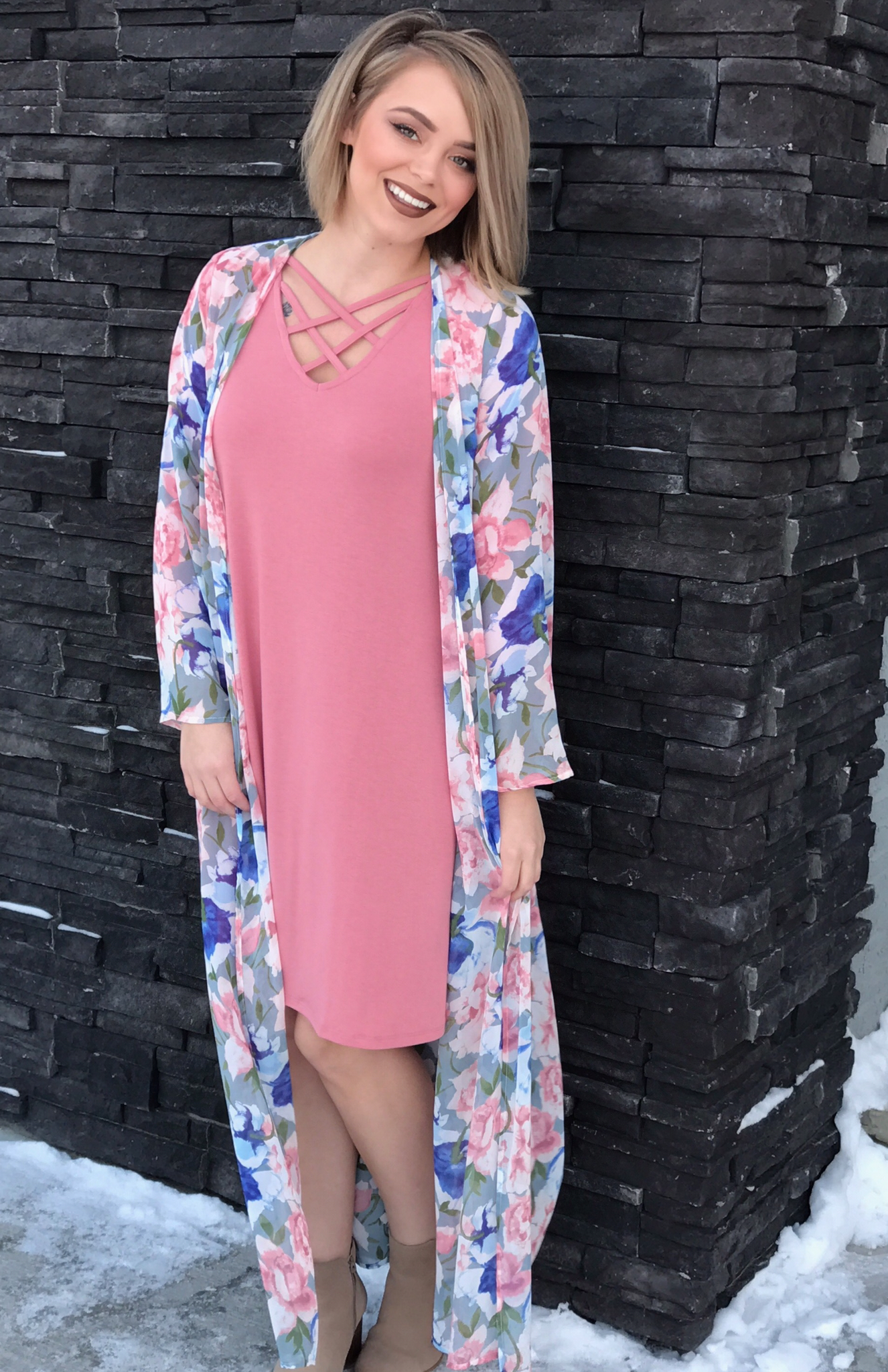 The Duchess Dress - Blush