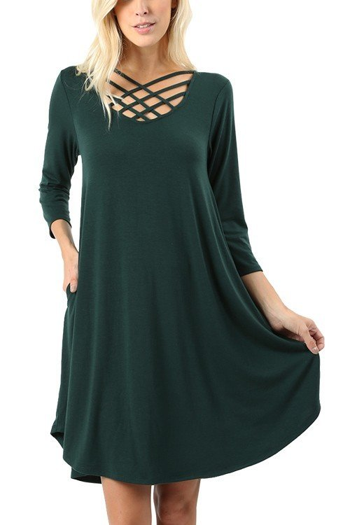 The Duchess Dress - Hunter Green 99453
