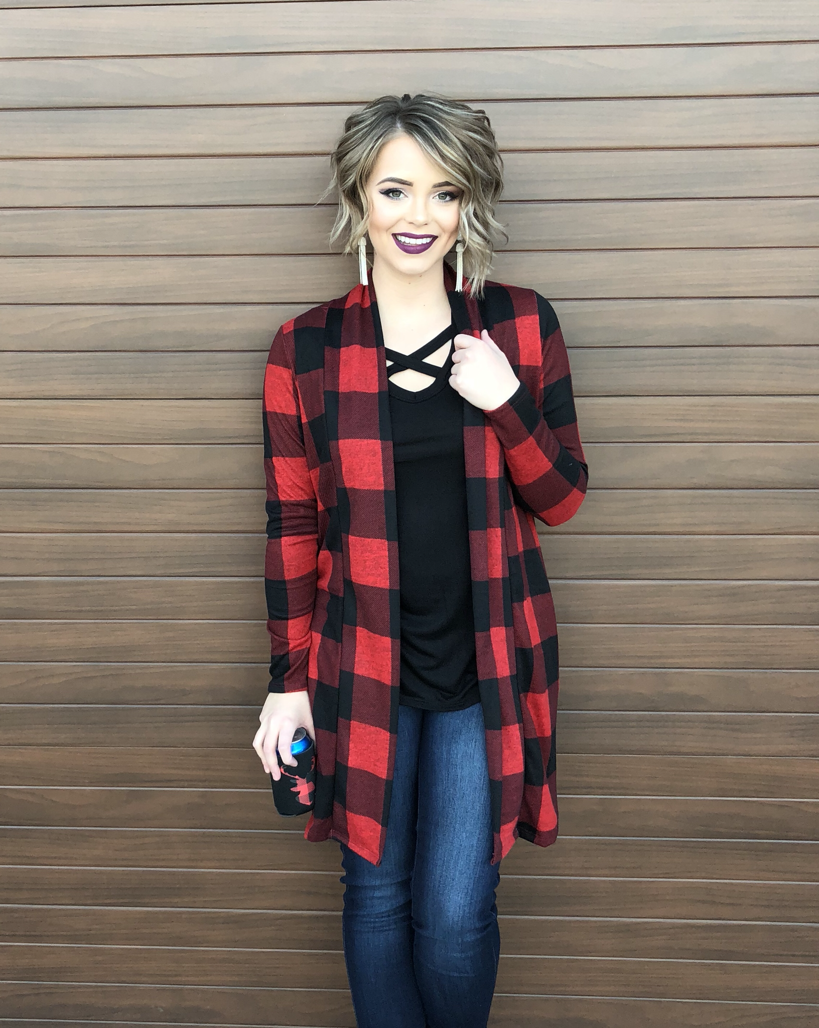 The Whitefish Buffalo Plaid Cardigan 99545