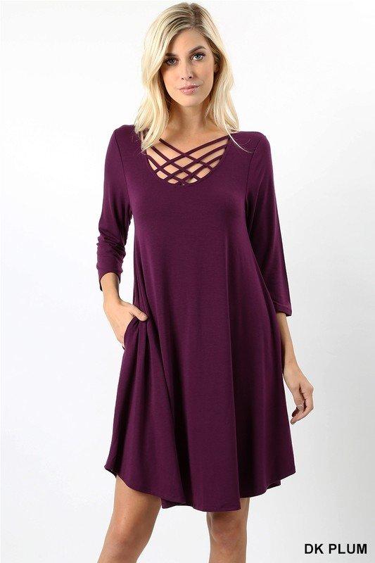 The Duchess Dress - Plum 99494