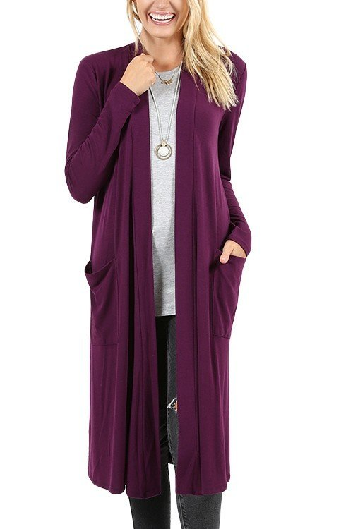 Purple Plum Lightweight Cardigan 99637