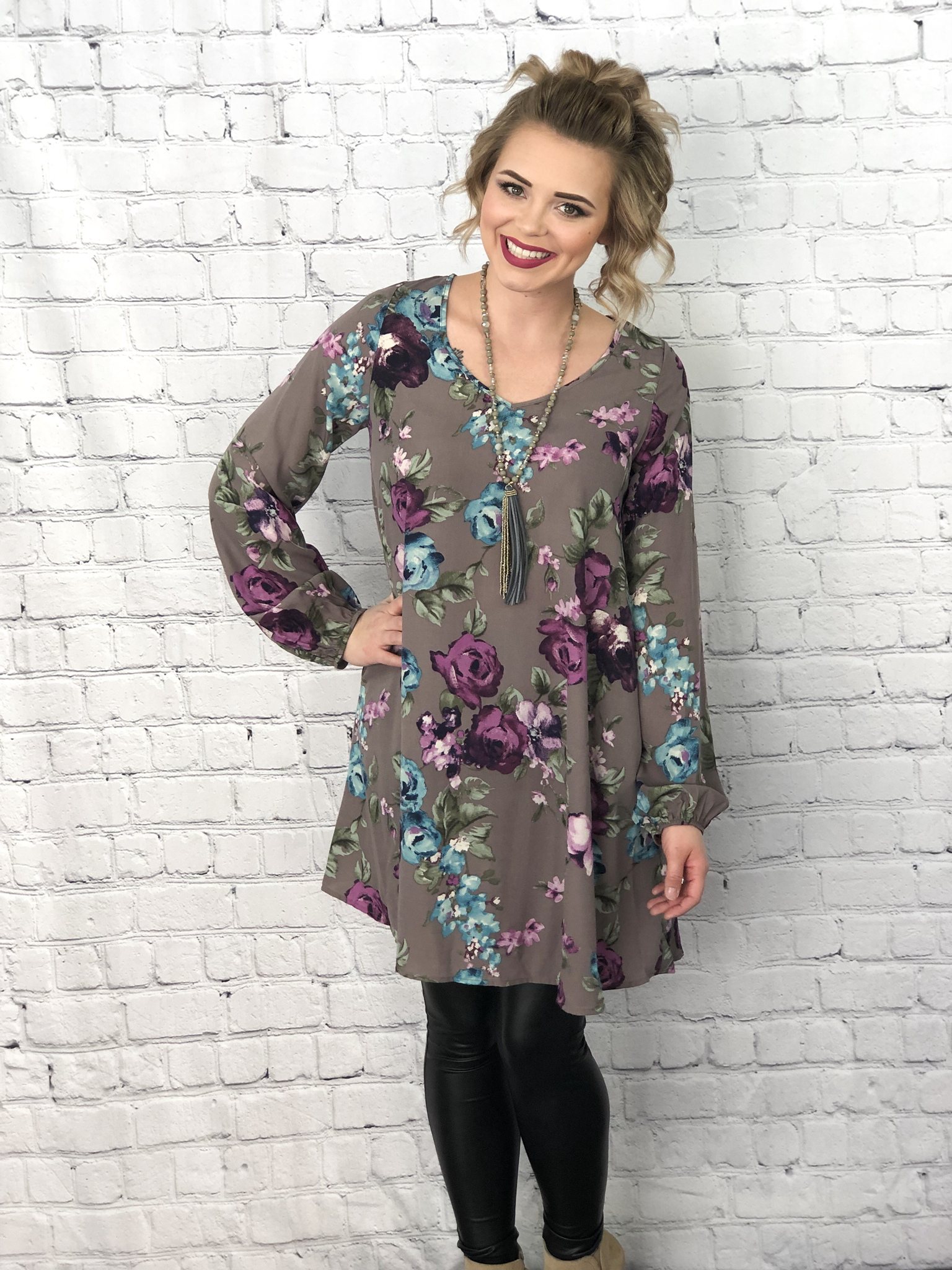 The Piapot Purple Floral Dress 99593