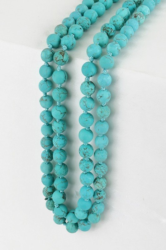 Natural Stone- Necklace 60''