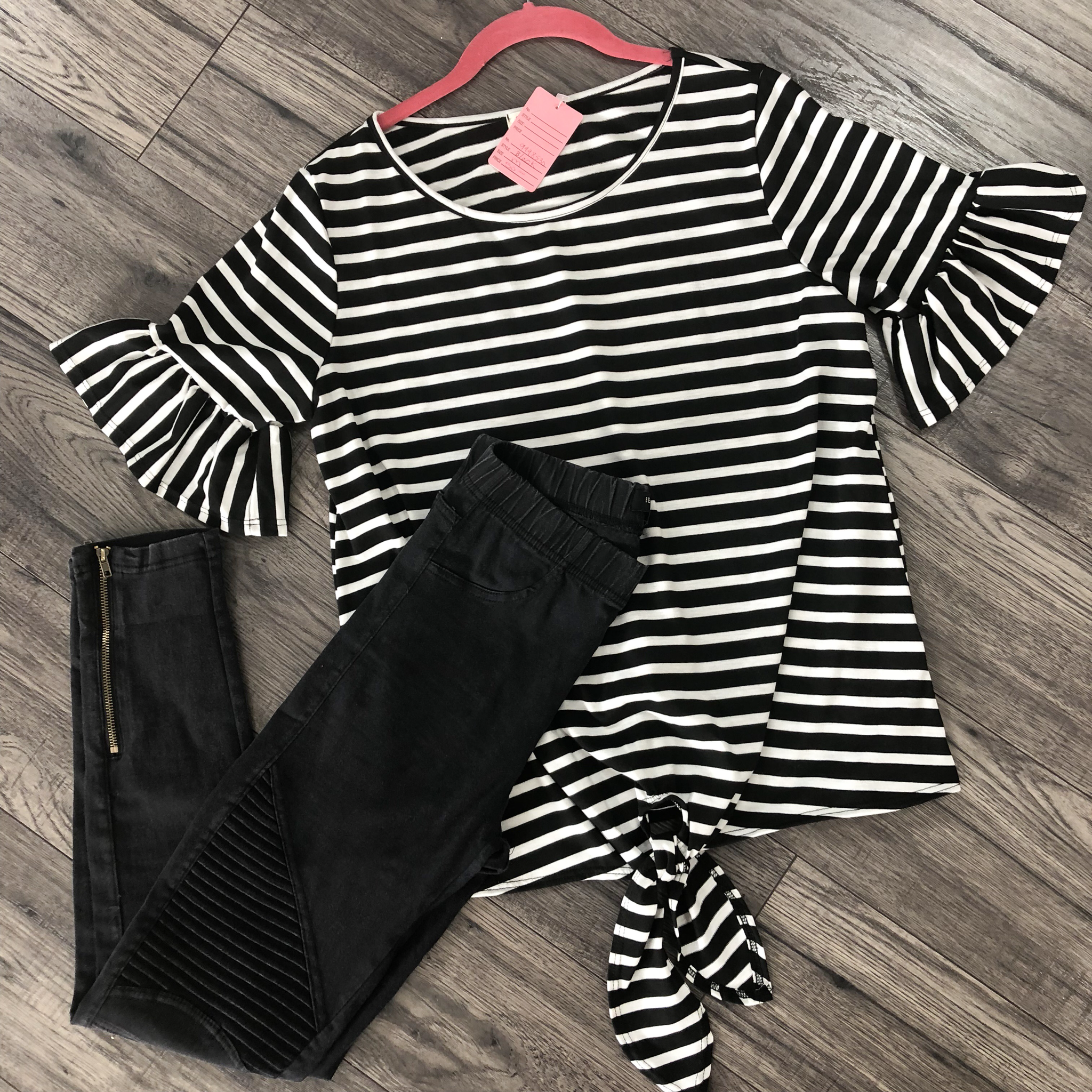 Tied Up Stripe Knot Top 9998530