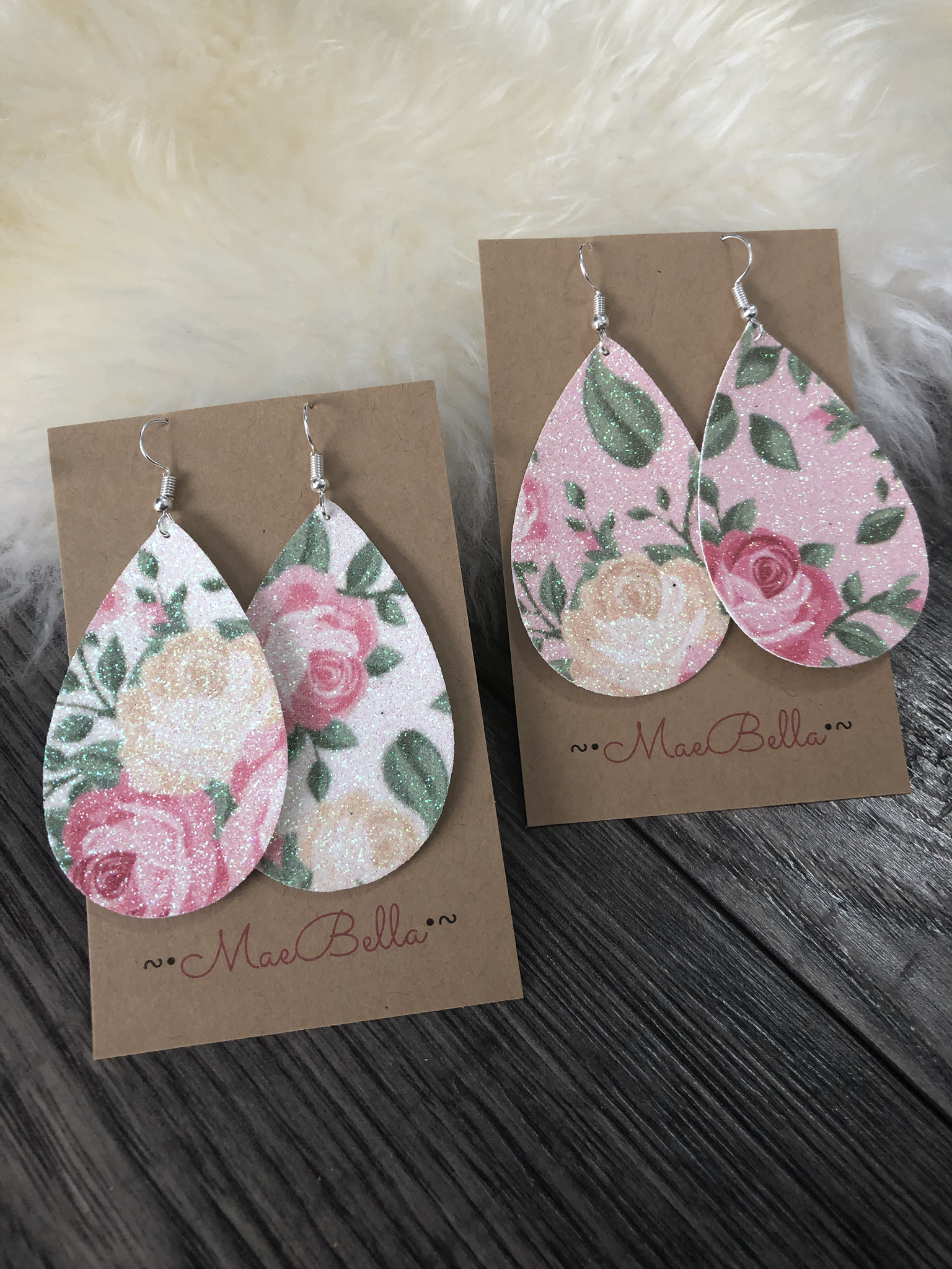 Floral Glitter Earrings 9998605