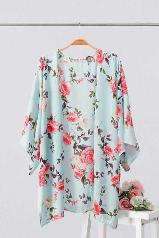 Mint Floral Kimono 9998959