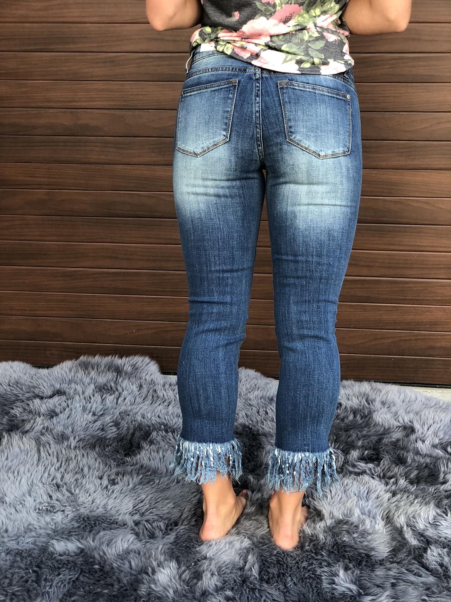 Fringe Crop Jeans 9999084