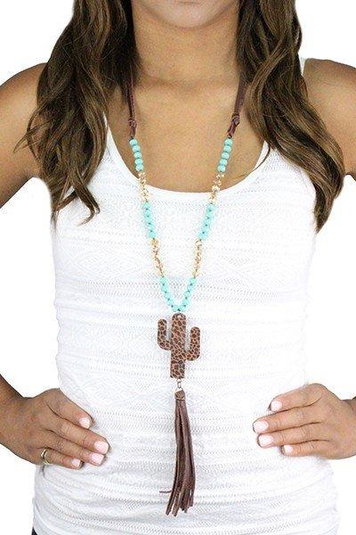 Cactus Tassel Necklace 9999242