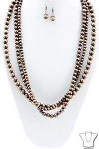 Faux Navaho Pearl Necklace - 2 Colours 9999244