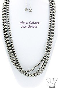 Faux Navaho Pearl Necklace - 2 Colours