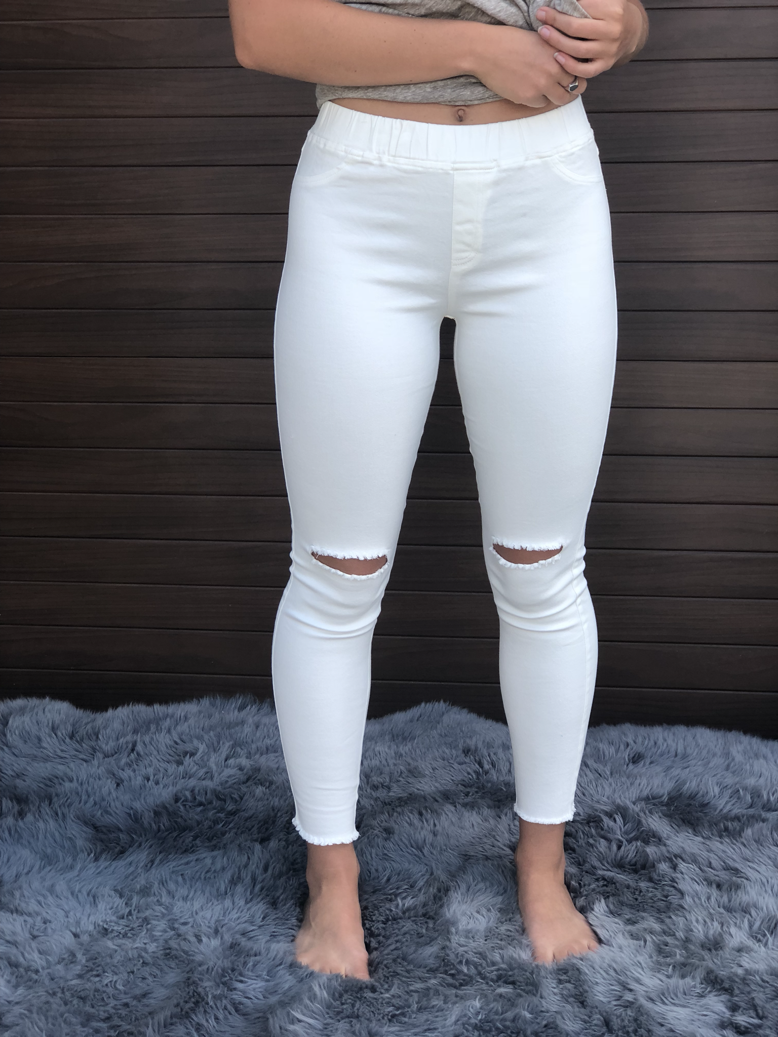 Cut Knife Jeggings - white 9999316