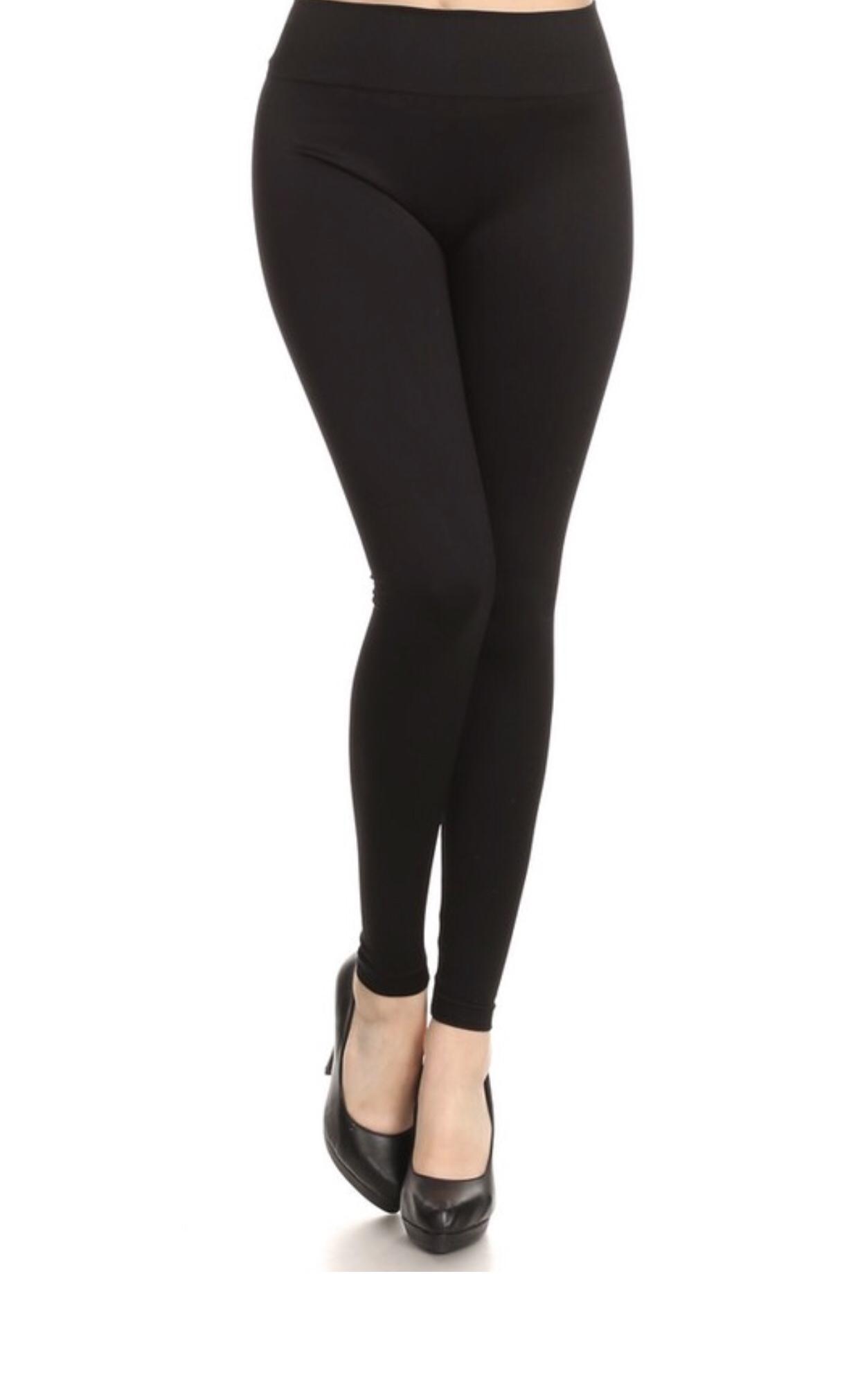 Basic Black Leggings 9999858