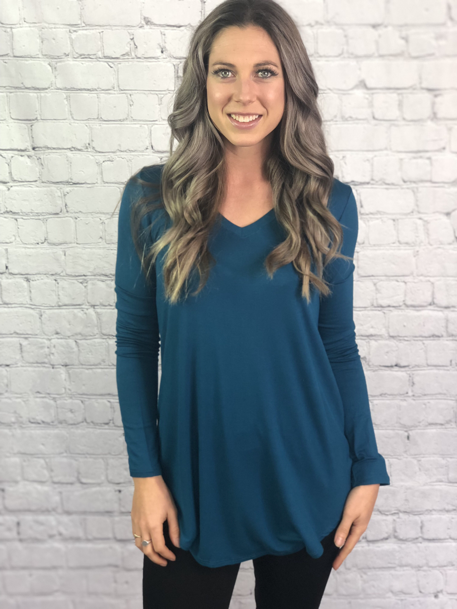 The Dorothy Top - teal 2554